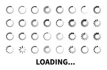 Loading Icon Big Set Isolated ...