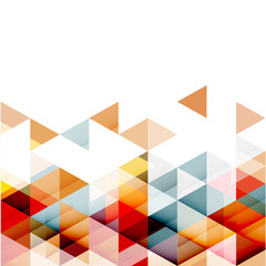 FototapetaAbstract colorful triangle geometric modern template for business or technology presentation, vector illustration