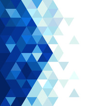 Abstract Blue Triangle Modern ...