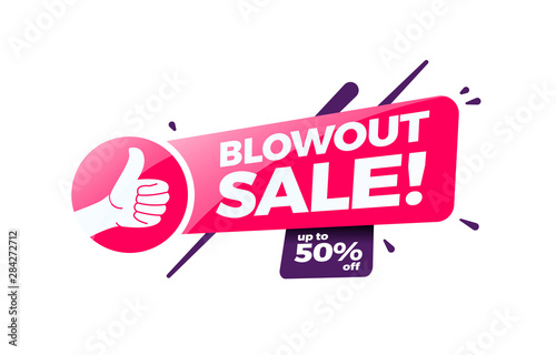 Blowout Sale 50% Off Shopping Label Wallpaper Mural