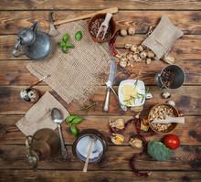 Kitchen Retro Arrangement On A...