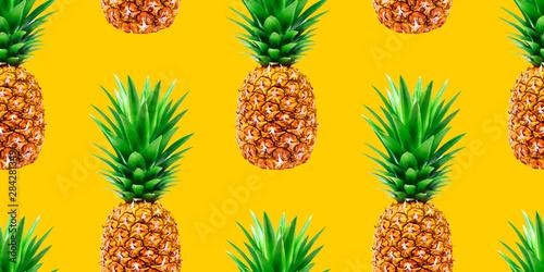 Fototapeta Ananas  ananas-lato-ananas-wzor-na-zoltym-tle