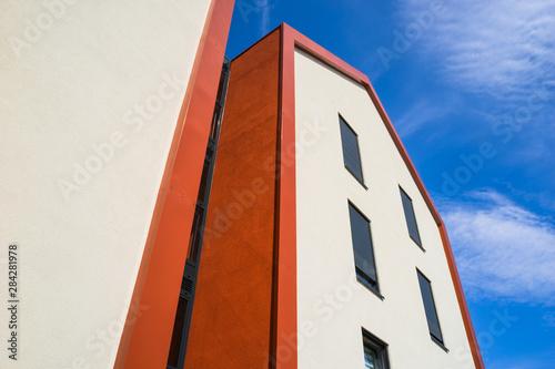 Architektur Moderne Fassade Und Hausgiebel Mit