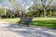 ポルトガルの公園のベンチ