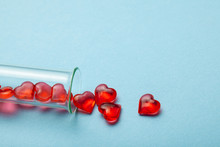 Hearts And Test Tube. Baby Fro...