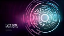 Futuristic Digital Sci-fi Circular Abstract Background