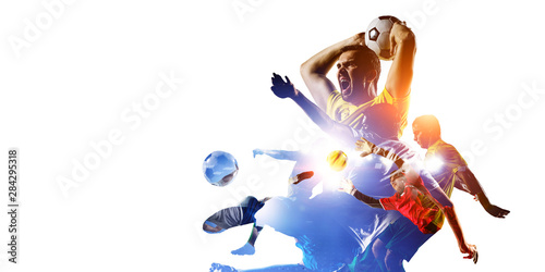 Fototapeta  Abstract soccer theme - hottest match moments