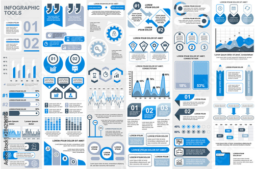 Infographic elements data visualization vector design template Wallpaper Mural