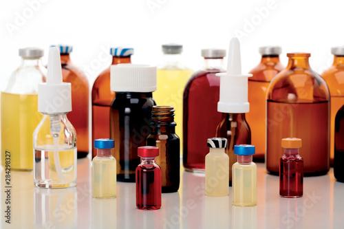 Photo Liquid medicine. Healthcare and pharmacy.
