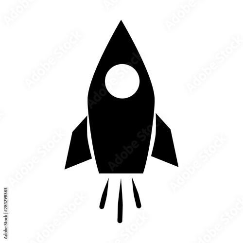 Rocket icon Wall mural