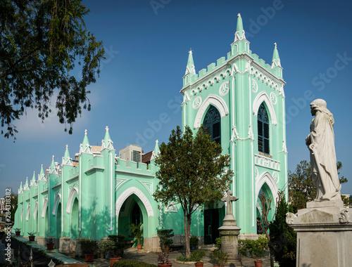 St. Michael portuguese colonial style church in macau city china