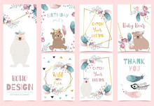 Collection Of Gold Boho Cards ...