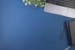canvas print picture - Worskspace desk top view