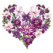 Heart Of Watercolor Flowers, B...