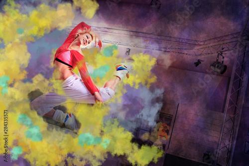 Fototapeta dancing for fitness obraz na płótnie