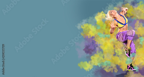 aerobics girl Canvas Print