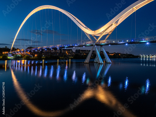 The Infinity Bridge, Stockton on Tees. England. - 284341748