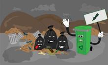 Recycler Et Trier Scène à La Décharge
