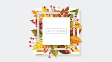 Minimal Square Autumn Frame Wi...