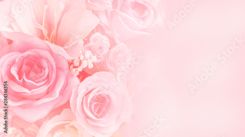 Rose flowers Wallpaper Mural