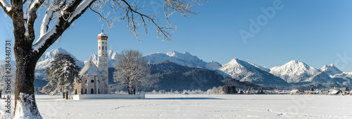 panoramic scene at winter in Bavaria, Germany Wallpaper Mural