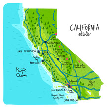 Map Of California State Of The...