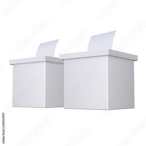 Valokuva  Blank election box ballot campaign mockup