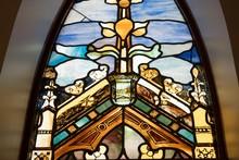 Beautiful Design Of A Christian Church Colorful Windows