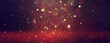 background of abstract Red glitter lights . defocused. banner
