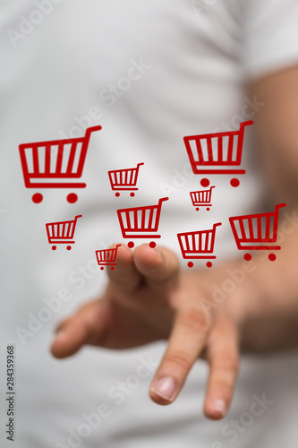 shopping online digital concept in hand