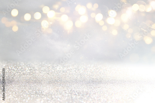 Fotografía  blackground of abstract glitter lights