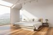 canvas print picture Stylish white attic bedroom corner