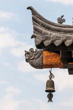 Decorative Details At The Wild Goose Pagoda, Xian, China.