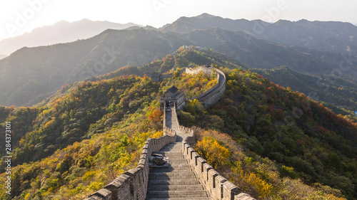 Foto op Canvas Chinese Muur The Great Wall at Mutianyu near Beijing in Hebei Province, China