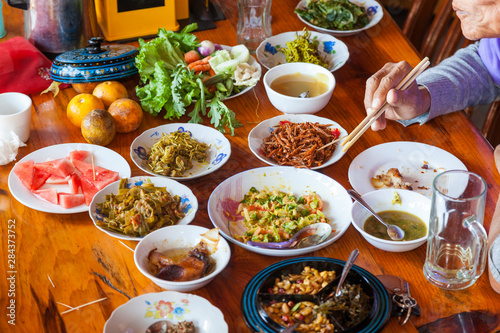 Photo Myanmar or Burmese food, Shan State, Myanmar (Burma)