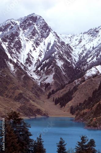 China, Xinjiang, Heavenly Lake Canvas Print