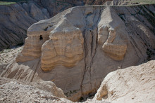 Cave At Qumran, Israel On The ...