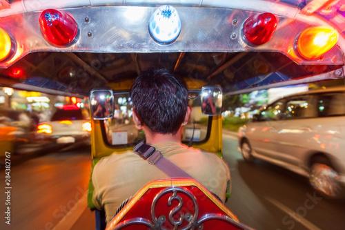 Auto-rickshaw or tuk-tuk, Bangkok, Thailand Canvas Print