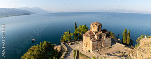 Photo Panorama du lac d'Ohrid, Macédoine du Nord