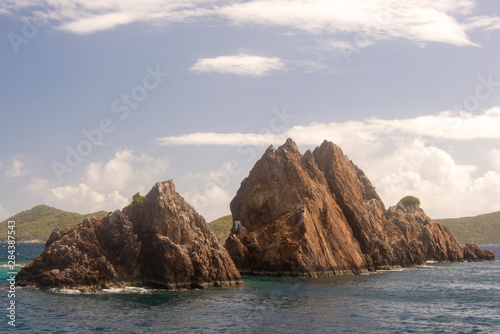 BVI, Norman Island, The Indians, renowned snorkeling site Wallpaper Mural