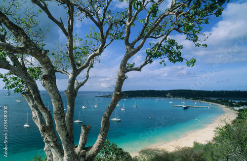 Carribean, Anguilla Island, Road Bay Harbour. Canvas Print