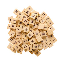 Pile Of Alphabet Letters On Wo...