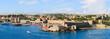 Panorama. Rhodes Town Harbor. Rhodes, Greece.
