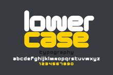 Lowercase Style Modern Font De...