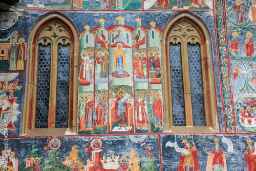 Fotografija  Romania, Bucovina, Bucovina Monasteries, Sucevita 16th Century, Painted Monastery