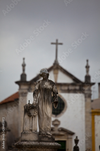 Fotobehang Historisch geb. Portugal, Averio, Graveyard scenes from the town of Averio