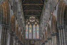 UK, Scotland, Glasgow, Glasgow Cathedral (St. Mungo Cathedral) Interior Constructed In The 12th Century