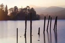 Sunset, Derwent Water, Lake District, Cumbria, UK