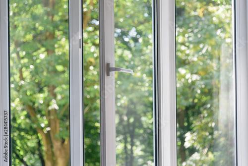 Foto auf Leinwand Olivgrun plastic vinyl window