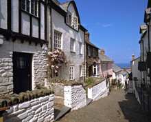 England, Clovelly. The View To The Sea From Clovelly Attracts Many Visitors To This Part Of Devon In England.
